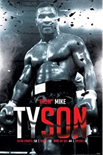 Pyramid America Mike Tyson Boxing Record Sports Poster 24x36 Inch