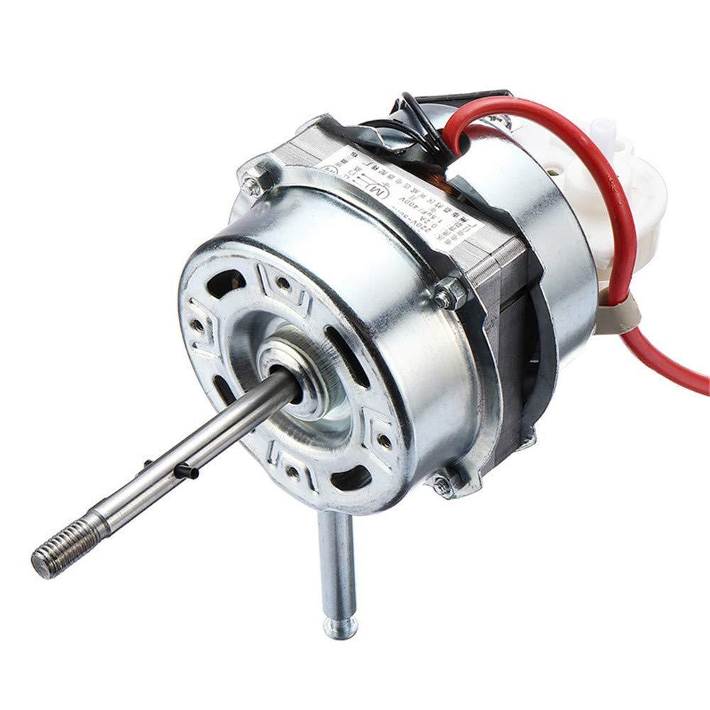 Pannow motor de ventilador de condensador de aire acondicionado de 60 W y 1250 RPM, motor de eje de rodamiento doble