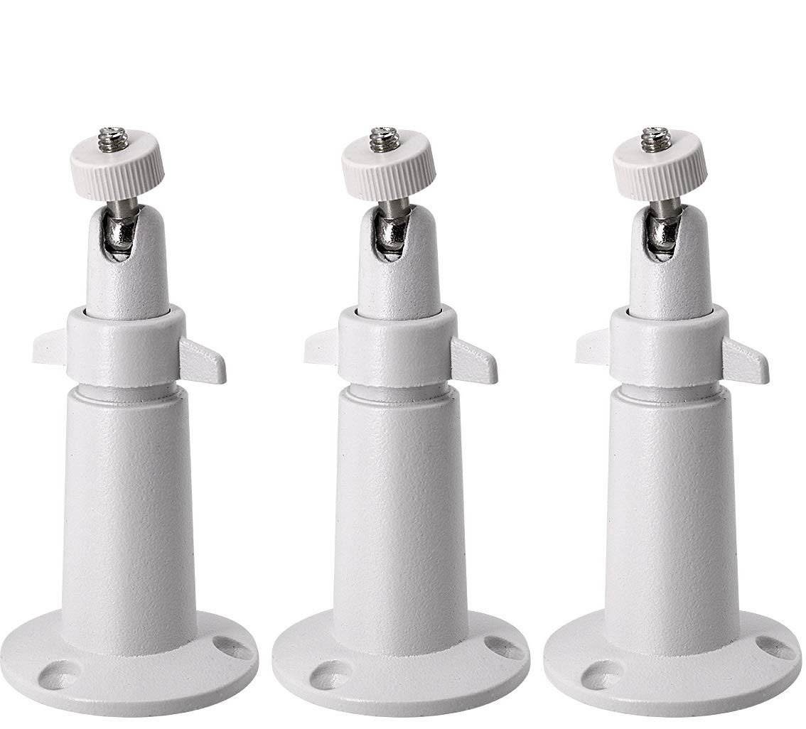 LINKPAL Arlo Mount/Arlo Pro Mount(3 Pack, Metal), Security Camera Metal Wall/Ceiling Mount, Adjustable Indoor/Outdoor Mount for Arlo, Arlo Pro, CCTV Camera and Other Compatible Models (White) by LINKPAL