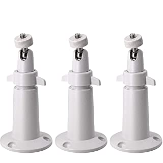 LINKPAL Arlo Mount/Arlo Pro Mount(3 Pack, Metal), Security Camera Metal Wall/Ceiling Mount, Adjustable Indoor/Outdoor Mount for Arlo, Arlo Pro, CCTV Camera and Other Compatible Models (White)