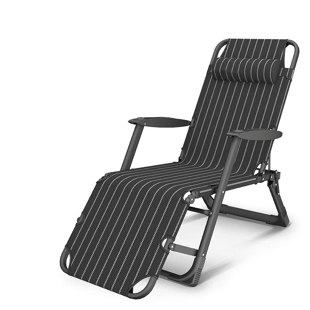 ASDFGH Heavy Duty Pieghevoli Poltrona reclinabile Sedie a Sdraio, Compact Sedie da Campeggio reclinabile all'aperto Regolabile reclinabile con poggiatesta Sedia Relax-EE