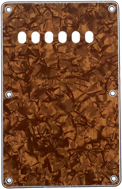 Musiclily Guitar Back Plate Cavity Cover Pickguard for China Made Squier Style 4Ply Vintage Tortoise Shell