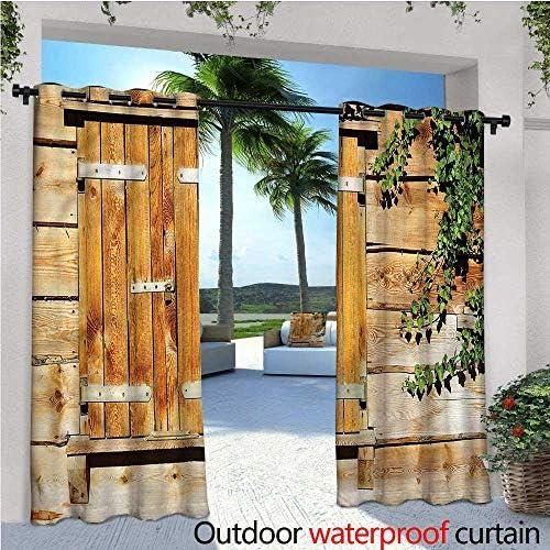 Cortina de privacidad para Exteriores de pergola de Madera Antigua, Aislante térmico, Repelente al Agua, para balcón: Amazon.es: Jardín