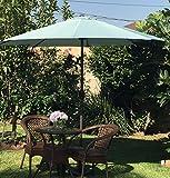 """BELLRINO DECOR """"SPA BLUE """"Market Aluminum Patio Umbrella 9 Ft with Tilt and Crank,8 Ribs"""