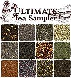 Solstice Loose Leaf Tea Ultimate Sampler Feat. 12 Teas; Sencha & Gunpowder Green Tea, Masala Chai Black Tea, Rooibos Herbal Tea, And More!