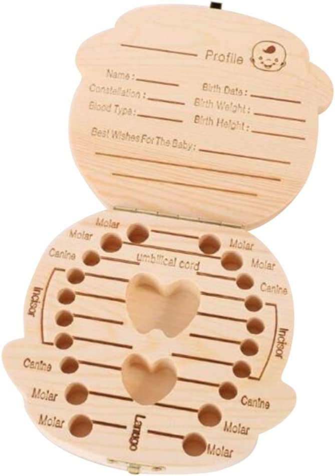 gar/çons Weimay b/éb/é dents Box /économiser en bois Bo/îtes de souvenir personnalis/é Lovely dent dents faite /à la main Bo/îte de rangement