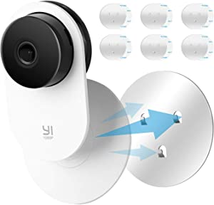 LANMU Wall Mount Compatible with Yi Home Camera, Security Camera Mounting Bracket, Adhesive Mount, No Nails (Pack of 6)