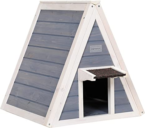 Petsfit Cat House For Outdoor Indoor Cats Weatherproof Outside Feral Cat Shelter With Escape Door Pet Supplies