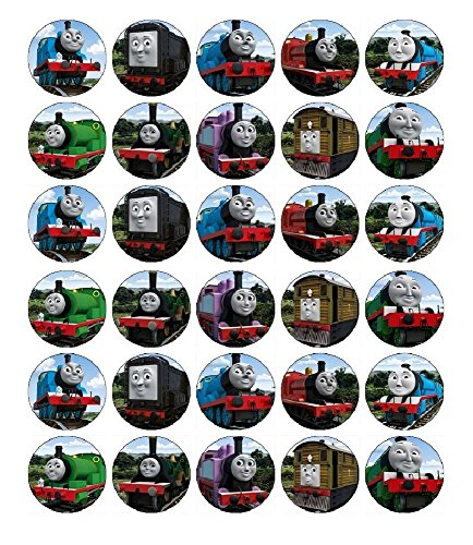 Thomas The Tank Engine Cupcake Toppers Edible Wafer Paper BUY 2 GET 3RD FREE]()