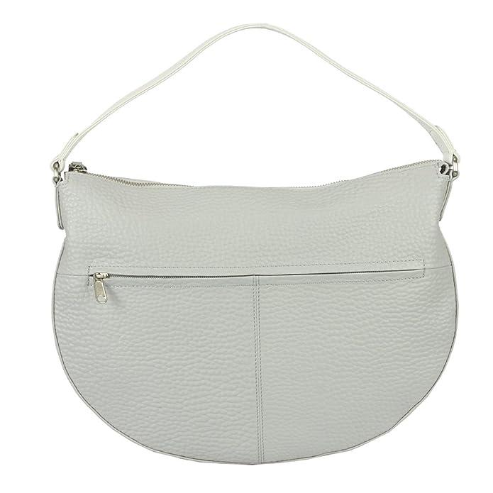 c9b6995516 Voi RV Bag hirsch-prägung 21899 Cattle Leather Ladies - Platinum White   Amazon.co.uk  Shoes   Bags