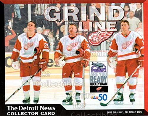(CI) Darren McCarty, Kris Draper, Kirk Maltby Hockey Card 1999-00 Detroit Red Wings Detroit News Collector Cards 5 Darren McCarty, Kris Draper, Kirk Maltby