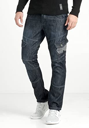 b4e636b8a726 CROSSHATCH Herren Jeans New Cargo  Amazon.de  Bekleidung