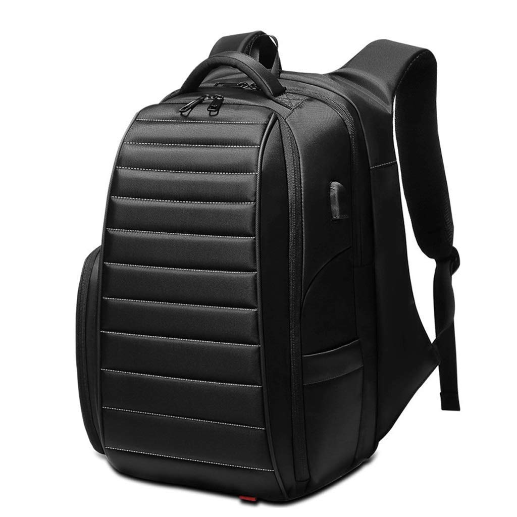旅行バックパックUSB充電インターフェースとプロフェッショナルなビジネスバックパック、スリムで軽量な防水スクール男性女性(色:黒、サイズ:LL)   B07PNHC5H5