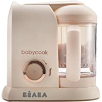 BEABA Babycook 4 in 1 Steam Cooker & Blender and Dishwasher Safe, 4.5 Cups, Rose Gold