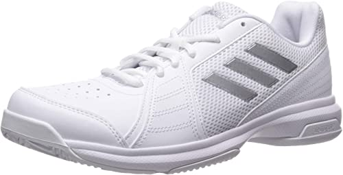 adidas Men's Approach Tennis Shoe, WhiteMetallic Silver