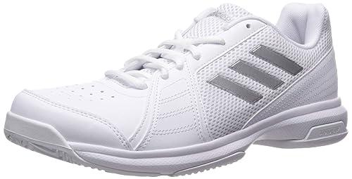 purchase cheap bd046 fc0c6 adidas Men s Approach Tennis Shoe, White Metallic Silver Black 7 ...