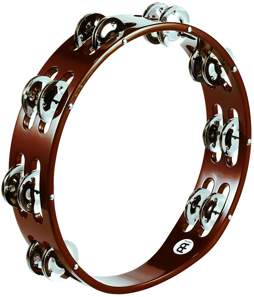 Meinl Percussion TA2AB Traditional 10-Inch Wood Tambourine with Double Row Steel Jingles Meinl USA L.C.