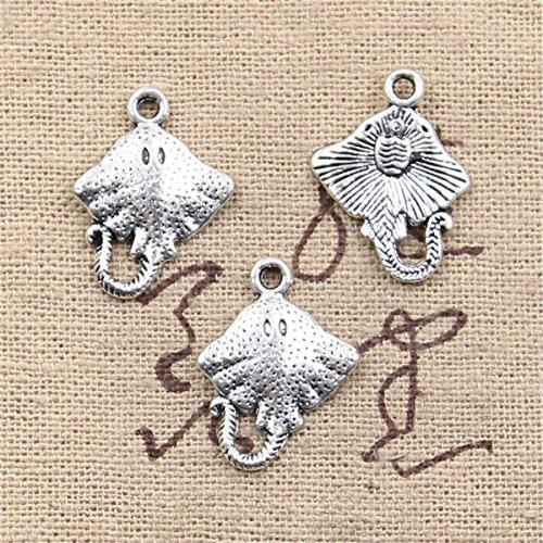 50pcs Charms stingray fish 21x13mm Antique Making Vintage Tibetan Silver Zinc Alloy Pendant