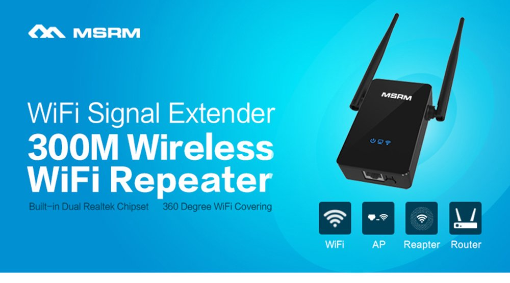 MSRM US302 300Mbps Wifi Range Extender 360 Degree WiFi Covering with Dual Antennas by MSRMUS (Image #2)
