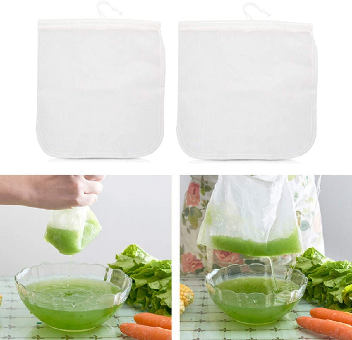 Cheesecloth Bag for Kitchen White, 30x30cm UPKOCH 3Pcs Soy Milk ...