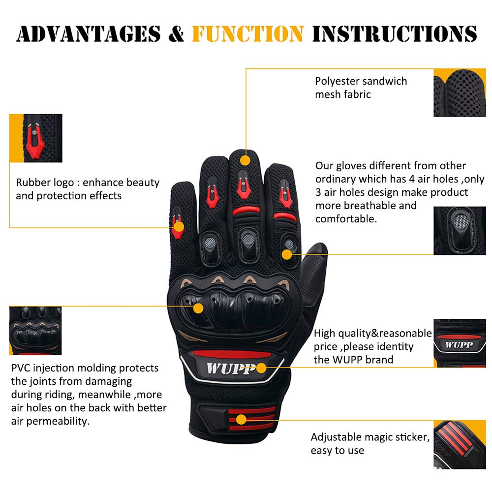 wupp gant moto homologu ce confortable gants de moto. Black Bedroom Furniture Sets. Home Design Ideas