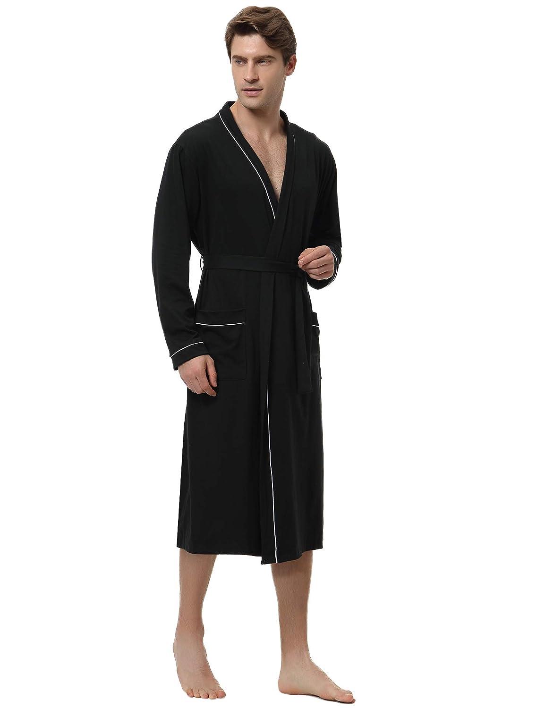 Aibrou Vestaglie Donna Cotone Camicia da Notte Scollo a V Elegante Sexy per Nozze Pigiami Spa Hotel Pigiama Kimono da Notte Vestaglia Kimono Donna Lunga con Cintura