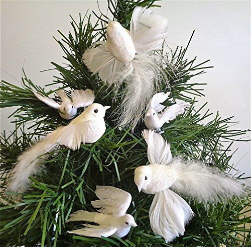 Artificial Dove set, flying, christmas, decoration, 3