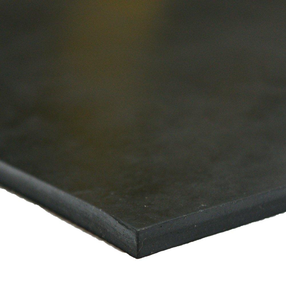 Neoprene - Commercial Grade - 70A - Rubber Sheet - 1/2'' Thick x 8'' Width x 8'' Length