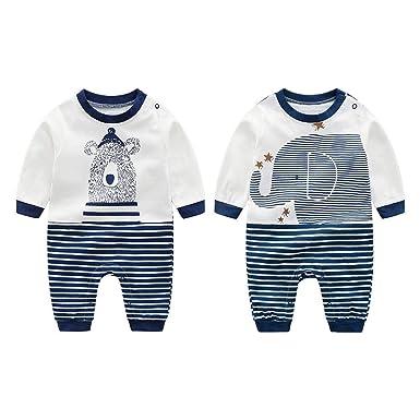 f1081fe9d Innersetting 2-3T Cartoon Autumn Long Sleeve Baby Romper Stripe Loose  Jumpsuit (Bear)