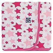 KicKee Pants Little Girls Print Swaddling Blanket - Flamingo Star, One Size