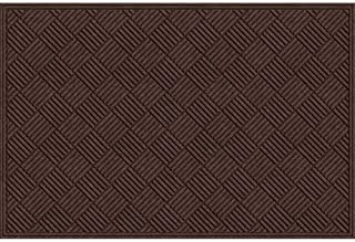 product image for Apache Mills Textures Crosshatch Entrance Mat, 4-Feet by 6-Feet, Chocolate
