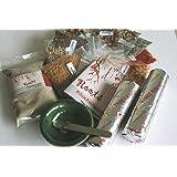 Räucherset 23-teilig Starterpaket 18 x 5g Weihrauch + Räuchermischungen + Weihrauchmischungen + Räucherschale + Sand + Edelstahl-Löffel + 2 Rollen Räucherkohle