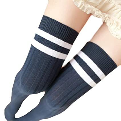 22693e2618e10 Amazon.com: sweetnice Women Stripe Winter Over Knee Leg Warmer ...