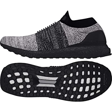 Amazon.com | adidas Ultraboost Laceless BB6137 Black/Grey ...