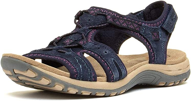 Earth Spirit Womens Savannah Shoes Sandals Navy Blue Sports Outdoors