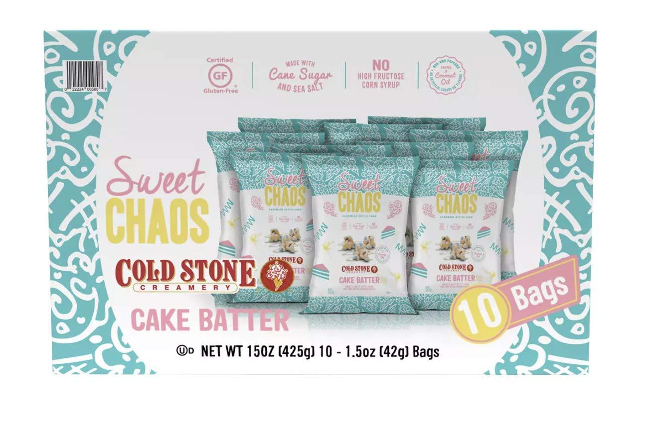 Cold Stone Creamery Sweet Chaos Handmade Kettle Corn Cake Batter Flavor Box of 10