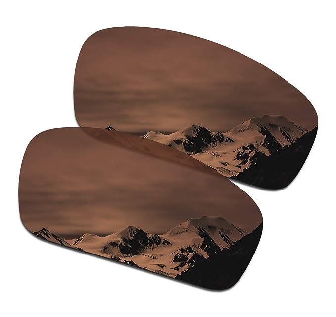 d8e1f231cb1 SmartVLT Men s Amber Brown Replacement Lenses for Oakley Splinter Sunglass