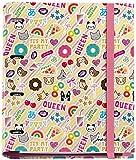 Jordi Labanda 20120 - Carpeta 4 anillas con bloc de 25mm, A4, multicolor