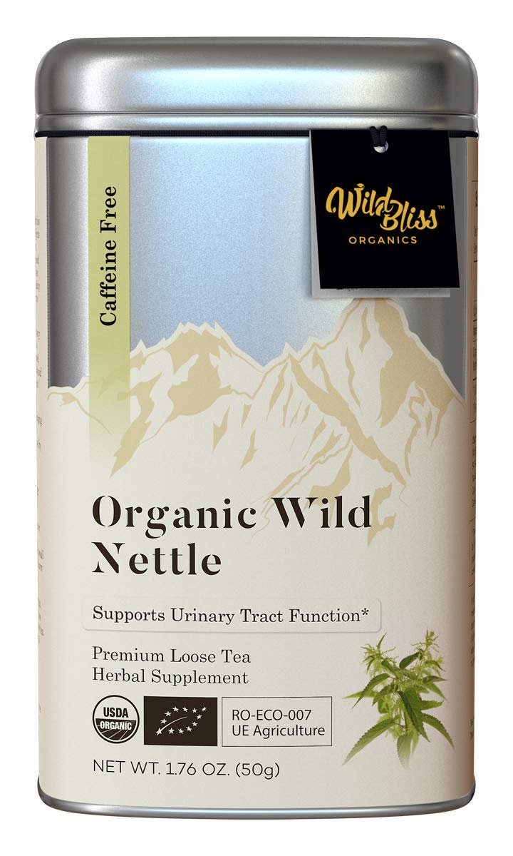 Stinging Nettle Tea - Organic Loose Leaf Caffeine Free Pharmacopoeia Grade Potency - 1.76 Ounces 25 Servings