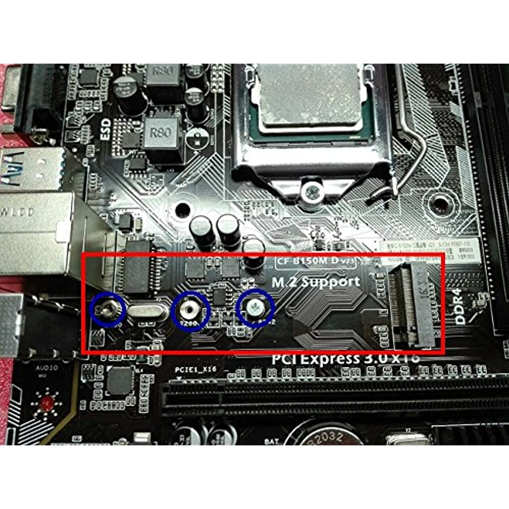 M.2 Standoff and Screw,M.2 SSD Mounting Kit for M.2 Drives,Asus Motherboa