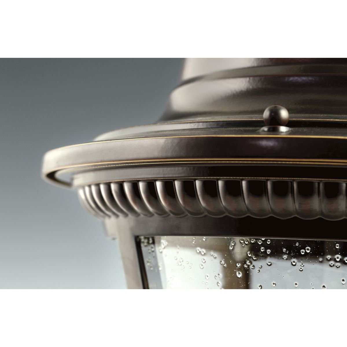 Progress Lighting P5862-31 1-Light Cast Wall Lantern with Clear Seeded Glass Textured Black