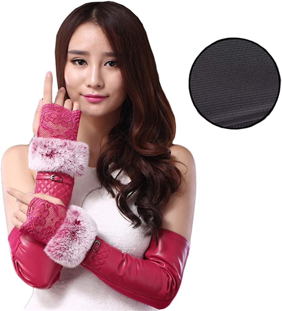 Icegrey Women Leather Elbow...