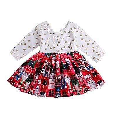Toddler Christmas Dresses.Amazon Com Toddler Girls Christmas Dress Vinjeely Dot