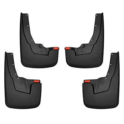 Husky Liners Fits 2020-20 Dodge Ram 1500 with OEM Fender Flares Custom Front and Rear Mud Guard Set: Automotive