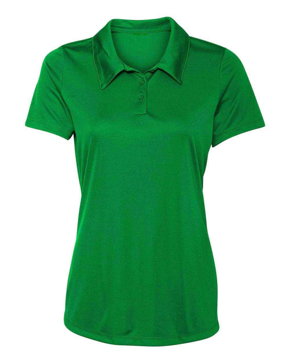 Animal Den Women's Dry-Fit Golf Polo Shirts 3-Button Golf Polo's in 20 Colors XS-3XL Shirt KLYGRN-3XL by Animal Den