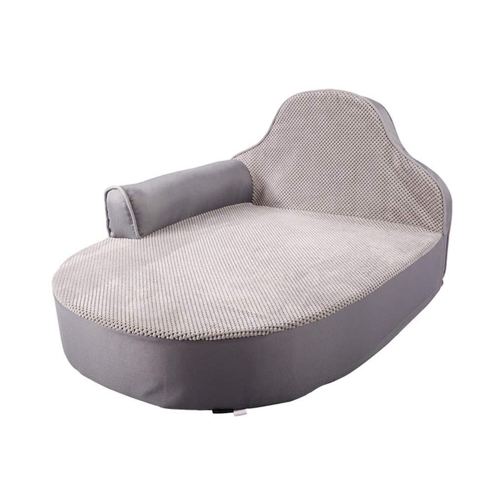 犬のベッド、ペット関節炎と股関節形成不全の痛みを和らげる、高品質治療、支持&暖かい犬のベッド、洗えるカバー大80 cm * 63 cm * 44 cm (色 : コーヒー) B07M7C716L Gray  Gray