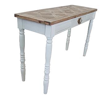 elbm/öbel Sekret/är antik wei/ß Konsole Beistelltisch Tisch Landhaus Holz Anrichte
