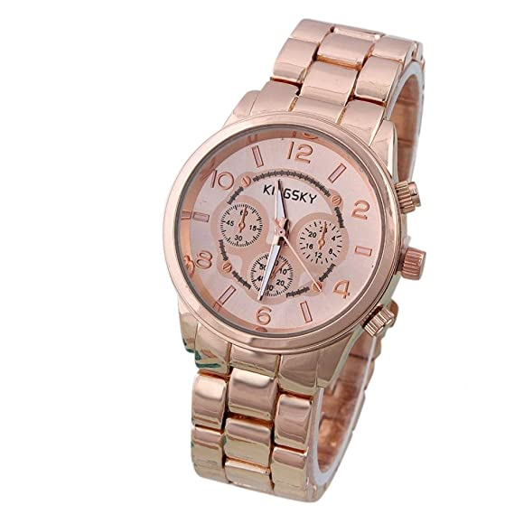 Belleza regalo mujer marca de cuarzo relojes Kingsky mujeres reloj automático analógico relojes de pulsera mujer Montre Femme nuevo 2015: Amazon.es: Relojes