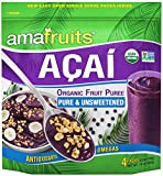 Amafruits Acai Berry Puree - Pure & Unsweetened - 144 Smoothie Packs