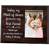 优雅标志 Maid *礼物 - 4x6 Thank You 相框 - Today my Maid Honor, Forever my Best Friend